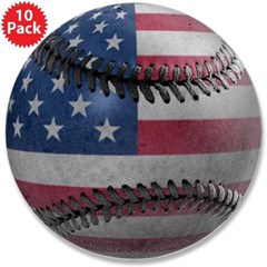 "USA Baseball 3.5"" Button (10 pack)"
