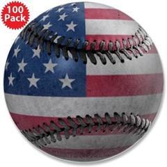 "USA Baseball 3.5"" Button (100 pack)"