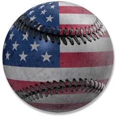 """USA Baseball 3.5"""" Button"""