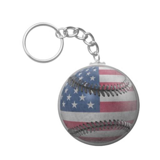 USA Baseball Basic Button Keychain