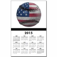 USA Baseball Calendar Print