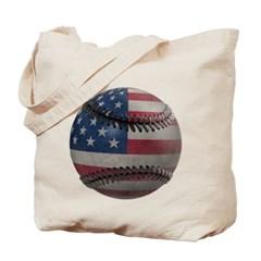 USA Baseball Canvas Tote Bag