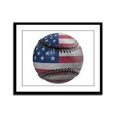 USA Baseball Framed Panel Print