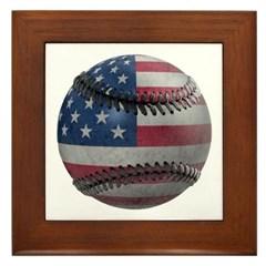USA Baseball Framed Tile