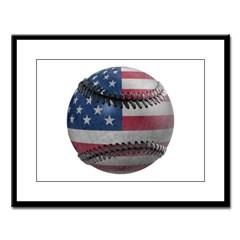USA Baseball Large Framed Print