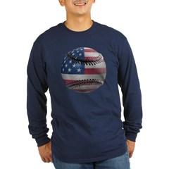 USA Baseball Long Sleeve Dark T-Shirt