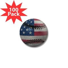 USA Baseball Mini Button (100 pack)