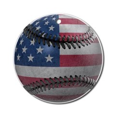 USA Baseball Ornament (Round)