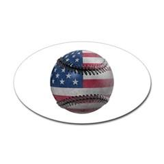 USA Baseball Oval Decal