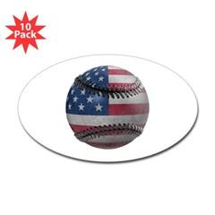 USA Baseball Oval Sticker (10 pk)