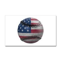 USA Baseball Rectangle Decal