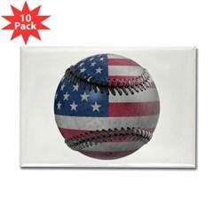 USA Baseball Rectangle Magnet (10 pack)