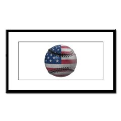 USA Baseball Small Framed Print