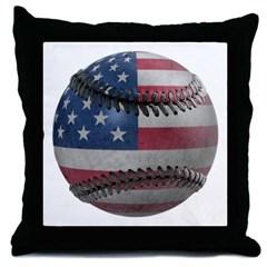 USA Baseball Throw Pillow