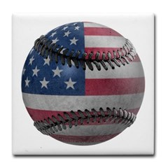 USA Baseball Tile Coaster