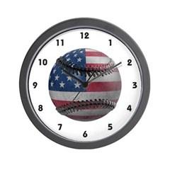 USA Baseball Wall Clock