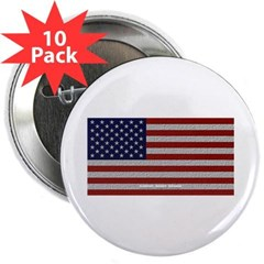 """American Cloth Flag 2.25"""" Button (10 pack)"""