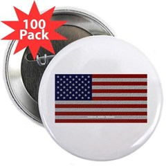 """American Cloth Flag 2.25"""" Button (100 pack)"""