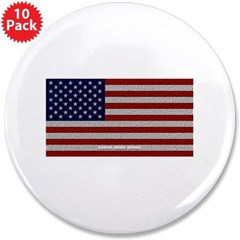 "American Cloth Flag 3.5"" Button (10 pack)"