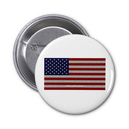American Cloth Flag Buttons