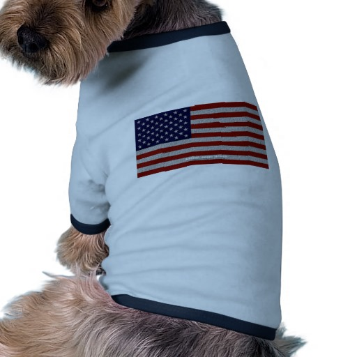 American Cloth Flag Doggie Ringer T-Shirt