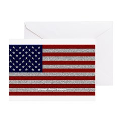 American Cloth Flag Greeting Cards (Pk of 10)