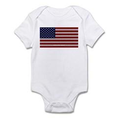 American Cloth Flag Infant Bodysuit