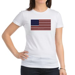 American Cloth Flag Junior Jersey T-Shirt