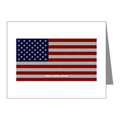 American Cloth Flag Note Cards (Pk of 10)