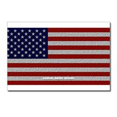 American Cloth Flag Postcards (Package of 8)