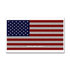 American Cloth Flag Rectangle Decal
