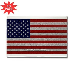 American Cloth Flag Rectangle Magnet (10 pack)