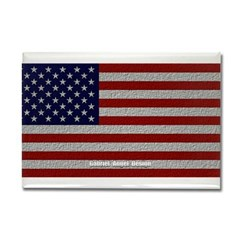 American Cloth Flag Rectangle Magnet