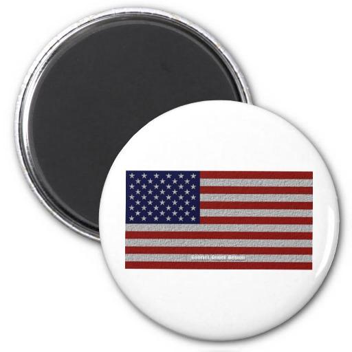 American Cloth Flag Refrigerator Magnet