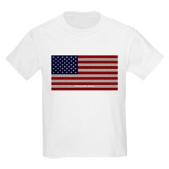 American Cloth Flag Youth T-Shirt by Hanes