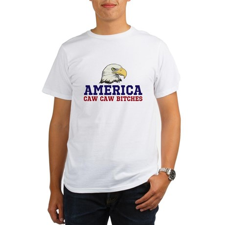 AMERICA Caw Caw Bitches Organic Men's T-Shirt