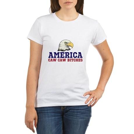 AMERICA Caw Caw Bitches Women's Organic T-Shirt