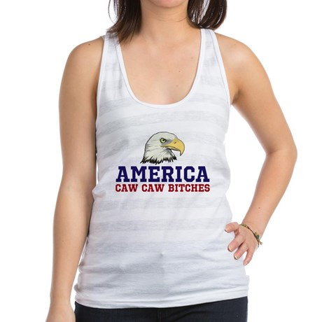 AMERICA Caw Caw Bitches Women's Racerback Tank Top