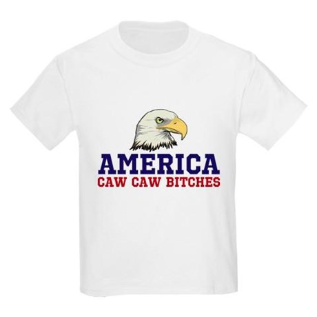 AMERICA Caw Caw Bitches Youth T-Shirt by Hanes