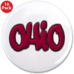 """Ohio Graffiti 3.5"""" Button (10 pack)"""