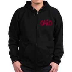 Ohio Graffiti Dark Zip Hoodie