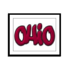 Ohio Graffiti Framed Panel Print