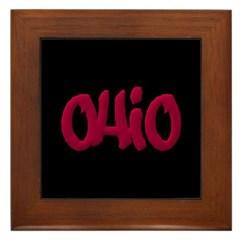 Ohio Graffiti Framed Tile