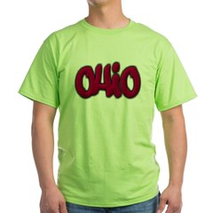 Ohio Graffiti Green T-Shirt