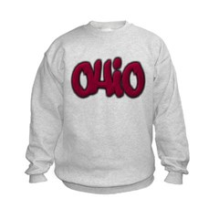 Ohio Graffiti Kids Crewneck Sweatshirt by Hanes