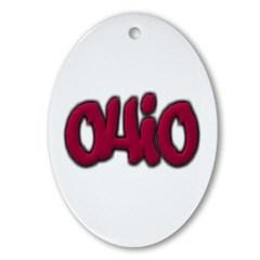 Ohio Graffiti Ornament (Oval)