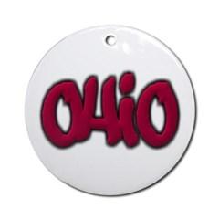 Ohio Graffiti Ornament (Round)