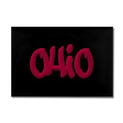 Ohio Graffiti Rectangle Magnet
