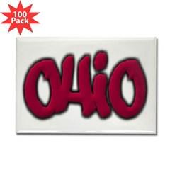 Ohio Graffiti Rectangle Magnet (100 pack)
