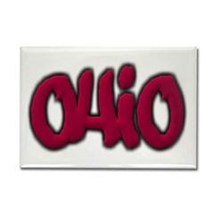 Ohio Graffiti Rectangle Magnet